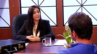 Sexy Secretary Gets Fucked by Multiple Cocks in Office