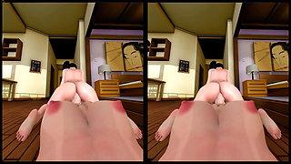 Cowgirl Bria Rides Rose Pov VR porn Animation