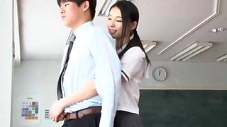 Japanese teen pusy at school