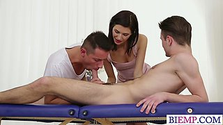 Hot Bi Couple Seduce Their Masseur