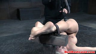 Slave gets groped and toyed by creepy maledom
