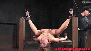 breast bonded sub punished with bastinado