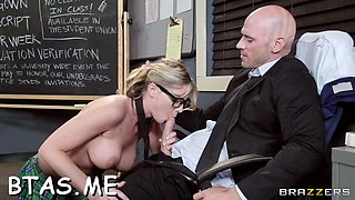 big titted teacher gets it on