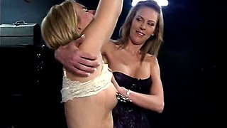 Blonde babe dominated by a hot bitch
