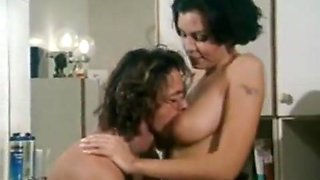 Brunette Does Him In The Bathroom
