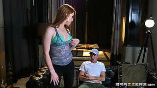 horny redhead nymph gwen stark seducing her stepbrother