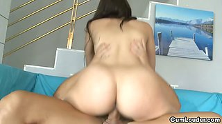 Busty italian Babe fucked by a hard big cock
