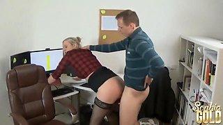 Naughty Secretary Meeting with the boss