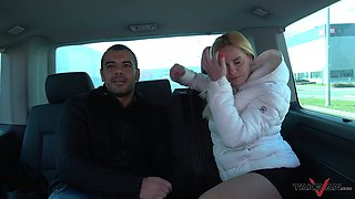 Czech blonde Black's pantyhose is torn when he gets his hands on her