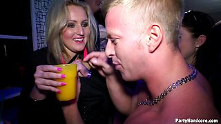 Smutty amateur with massive stunning tits being nailed in a Party Hardcore.
