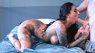 Stunning brunette Lily Lane fucked hard and smeared with cum