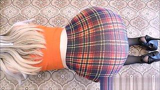 Big ass teen hot sexy girl homemade wife Upskirt stockings