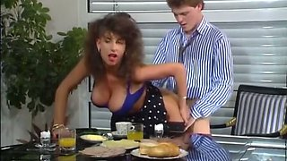 Naughty and magnificent vintage white slut with big breasts