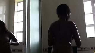 Amateur African Babes Sharing White Cock