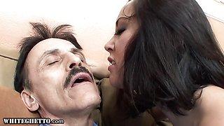 Horny Old Man Dirty Fucks Latina Teen Step Daughter