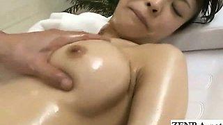 Subtitled CMNF Japanese schoolgirl indecent massage