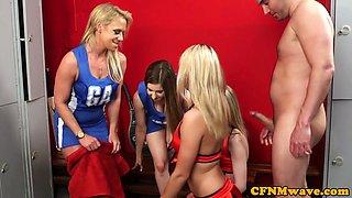 British cfnm cheerleaders sucking hard dick