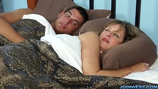 Mom and son fucked in hotel room