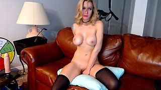 blonde milf inserting huge dildos up her ass and pussy hd