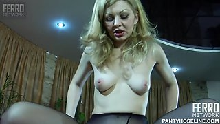 Ninette and harry have romantic pantyhose sex