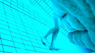 Voyeur films inside sauna swimming pool