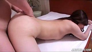 Extremely hairy pussy by Nan Oshikiri got thick jizz inside