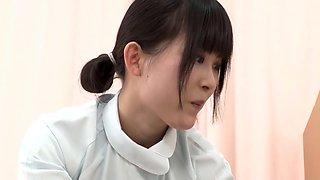 Horny Japanese slut in Exotic Nurse, HD JAV scene