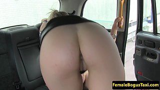 Classy cab driver drilled on all fours