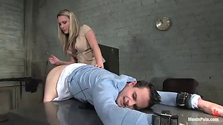 sexy mistress' fucked hard after fucking her servant with a strapon