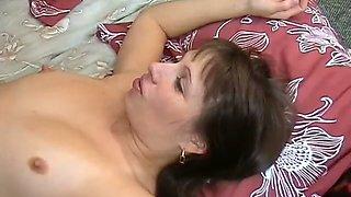 Energetic nympho is riding her BF's juicy prick vigorously like a true slut