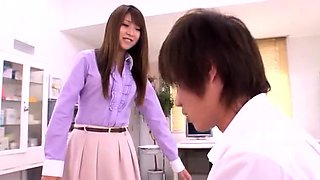 Busty Japanese teacher gets fucked hard by a horny student
