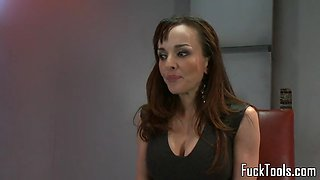 toy babe pounded with dildo machine squirts