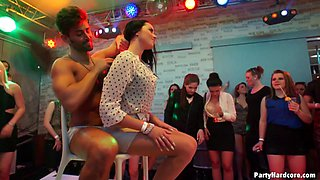 Guys stripping in the club and fucking the hot girls