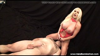 muscle milf with big beefy clitoris Femdom gives handjob