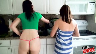 Lucky guy gets his hard cock pleases by Zoe Parker and her friend