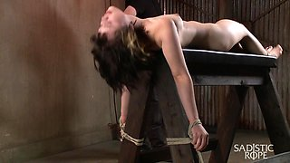 Yhivi in First Shoot Ever-19 Yr Old Learning Bondage The Hard Way - SadisticRope
