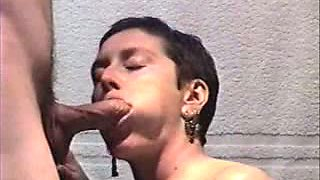 My gorgeous Aunt gives me an horny blowjob at the hotel