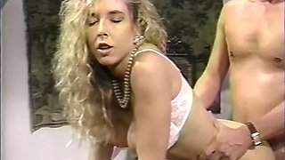 Insatiable blonde lady banged hard and jizzed with cum