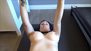 Big Bouncing Tits - Young Mom Gym Workout Interrupted For Sex Exercise