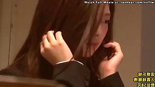 Japanese female teacher gets abused and fucked by her coworker
