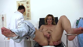 Lucky Doctor Fucks Real Hot Mature In Office