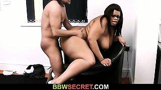 Boss cheats with big black secretary