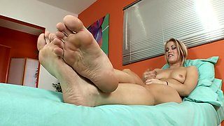 Amazing pornstar Leilani Leeanne in incredible fetish, foot fetish sex scene