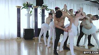 BFFS - Fake Instructor Tricks Ballerinas And Fucks Them