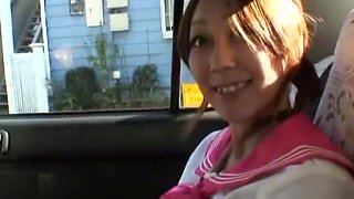 Horny Japanese girl Hime Orihara in Incredible Blowjob, Car JAV clip