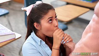 such an erotic blowjob is a dream of every school teacher