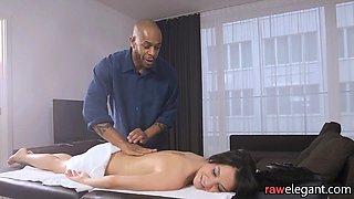 European beauty massaged and assfucked