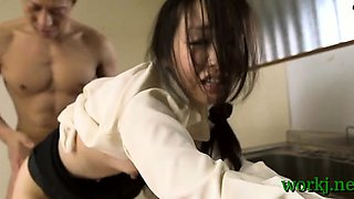 Japanese office girl provides her twat to her boss