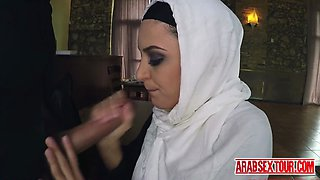 Arab boss accepts pussy payment for rent after dinner