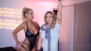 Brazzers - Bridgette B & Eva Notty- Two blonde bombshells punish one cock